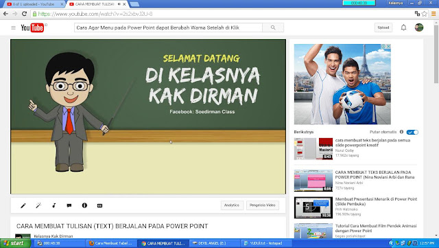 Video Tutorial Power Point Heru Satria di Kelasnya Kak Dirman