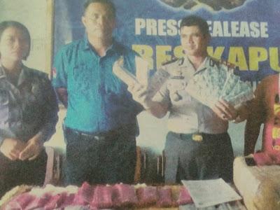 Polres Kapuas Amankan 89.000 Zenith dan Somadril