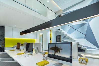 Thiết kế văn phòng công ty C&C đầy mầu sắc