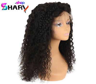 cae4c6d3ba08c باروكة شعر طبيعى اسود برازيلي كيرلى طول 16 انش