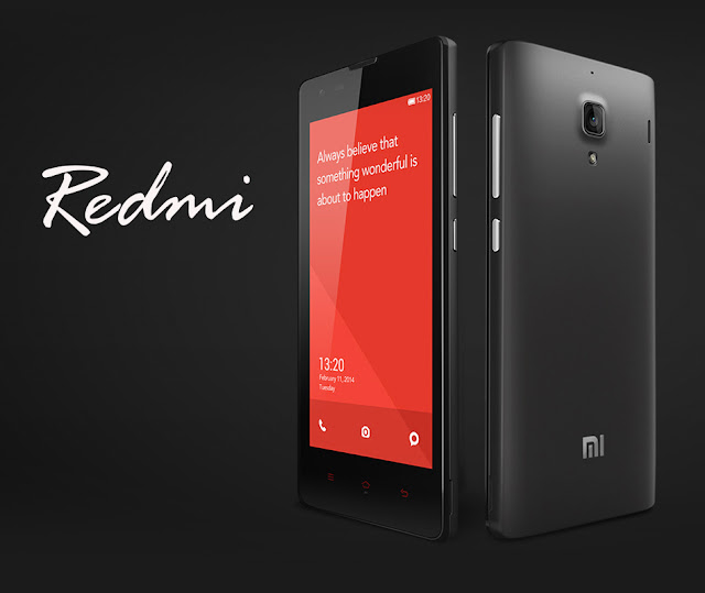Xiaomi Redmi Specifications - LAUNCH Announced 2013, July DISPLAY Type IPS LCD capacitive touchscreen, 16M colors Size 4.7 inches (~64.4% screen-to-body ratio) Resolution 720 x 1280 pixels (~312 ppi pixel density) Multitouch Yes Protection Corning Gorilla Glass 2 BODY Dimensions 137 x 69 x 9.9 mm (5.39 x 2.72 x 0.39 in) Build  Weight 158 g (5.57 oz) SIM Dual SIM PLATFORM OS Android OS, v4.2 (Jelly Bean) CPU Quad-core 1.5 GHz Cortex-A7 Chipset Mediatek MT6589T GPU PowerVR SGX544MP2 MEMORY Card slot microSD, up to 32 GB (dedicated slot) Internal 4 GB, 1 GB RAM CAMERA Primary 8 MP, f/2.2, 28mm, autofocus, dual-LED flash Secondary 1.3 MP, 720p@30fps Features 1.4 µm pixel size, geo-tagging, touch focus, face/smile detection, HDR Video 1080p@30fps NETWORK Technology GSM / HSPA 2G bands GSM 900 / 1800 / 1900 3G bands HSDPA 900 / 2100 Speed HSPA GPRS Yes EDGE Yes COMMS WLAN Wi-Fi 802.11 b/g/n, Wi-Fi Direct, hotspot GPS Yes, with A-GPS USB microUSB v2.0, USB Host Radio FM radio Bluetooth v4.0, A2DP, LE FEATURES Sensors Sensors Accelerometer, gyro, proximity, compass Messaging SMS(threaded view), MMS, Email, Push Mail, IM Browser HTML5 Java No SOUND Alert types Vibration; MP3, WAV ringtones Loudspeaker Yes 3.5mm jack Yes BATTERY  Removable Li-Po 2000 mAh battery Stand-by  Talk time  Music play  MISC Colors Black, Chinese Red, Metallic Gray/ blue, green, yellow panels  - Active noise cancellation with dedicated mic - MP4/H.264 player - MP3/WAV/eAAC+/FLAC player - Photo/video editor - Document viewer  - Voice memo/dial/commands