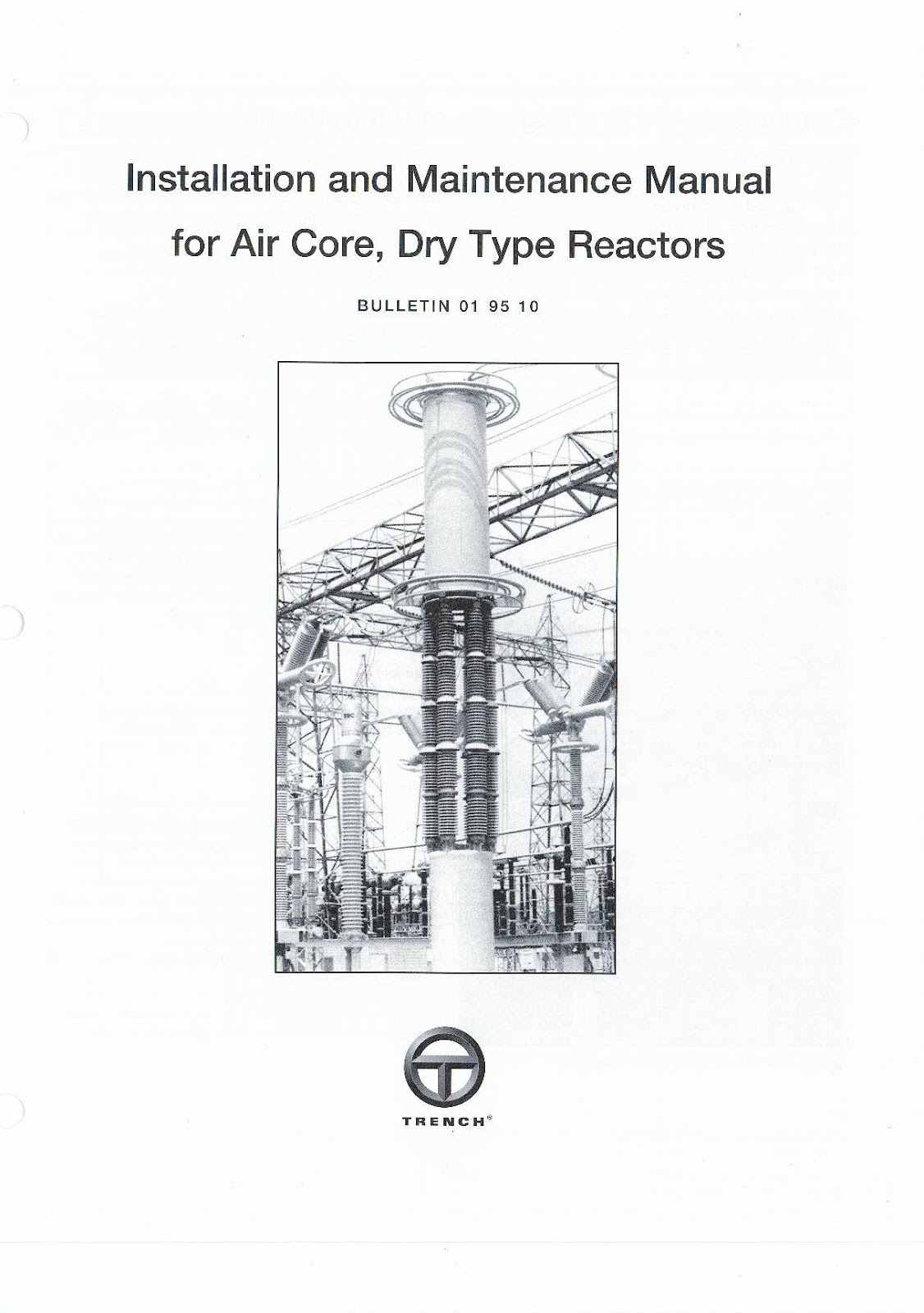 Installation and maintenance manual for air core dry type reactor