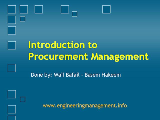 Introduction to Procurement Management pdf