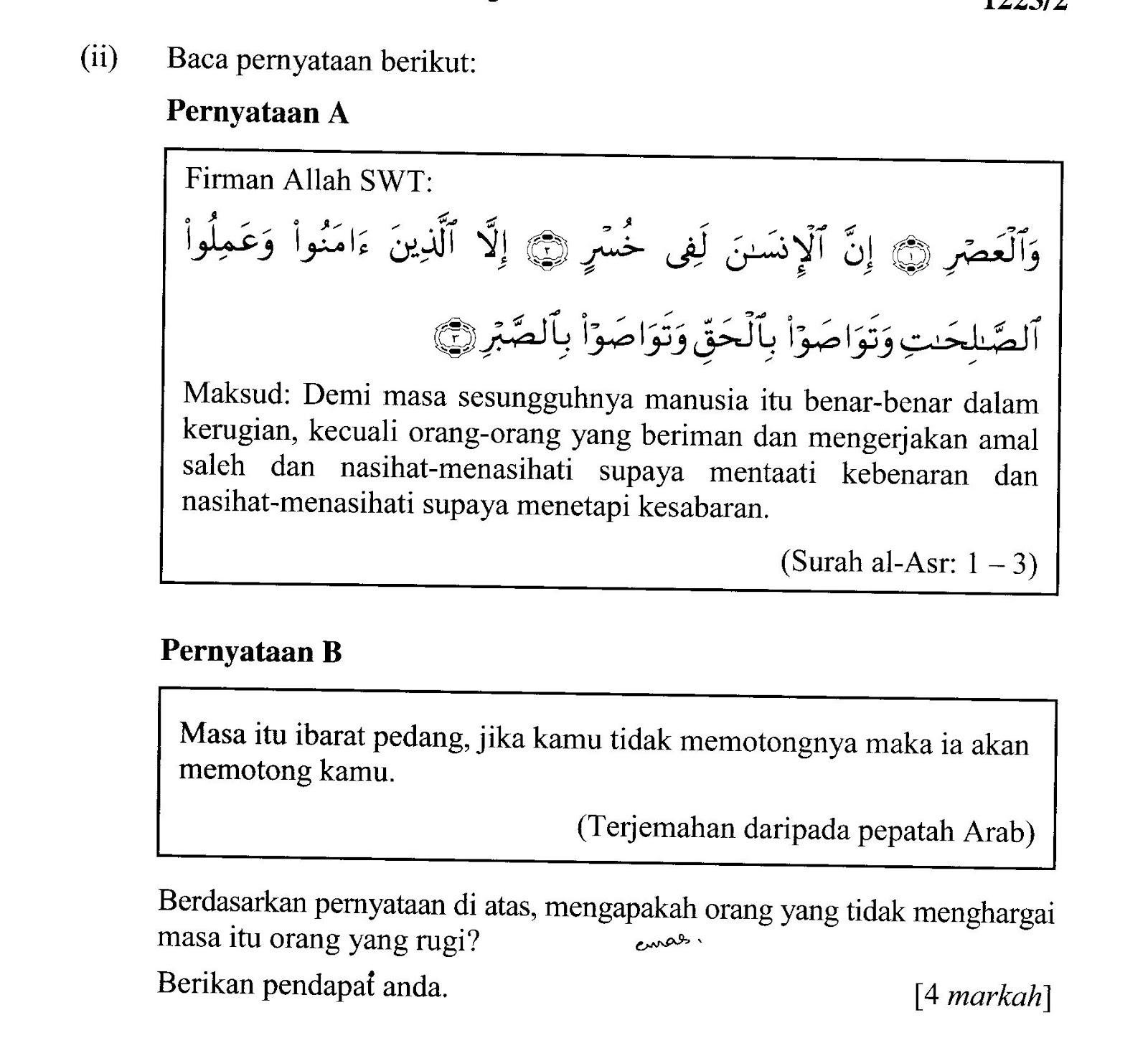 Contoh Soalan Kbat Pendidikan Islam Tingkatan 4 I Soalan
