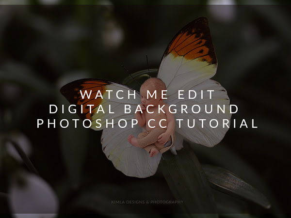 Watch Me Edit - Digital Background Free PS CC Tutorial for Photographers