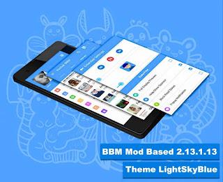 BBM Mod LightSkyBlue Based BBM V2.13.1.13