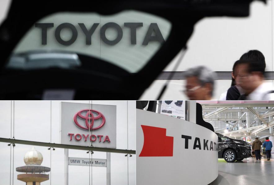 Maxi richiamo Toyota: 730 mila automobili con problema airbag Takata