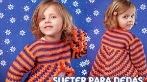 Patrones de Suéter para Nenas a Crochet | Patrones y Moldes con Explicación