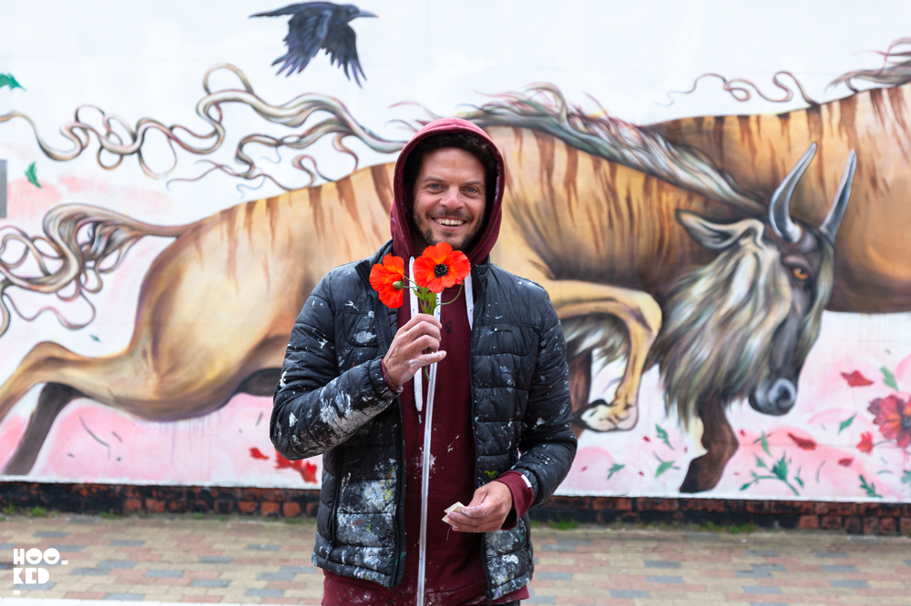 Portrait of artist Mateus Bailon in Ostend, Belgium
