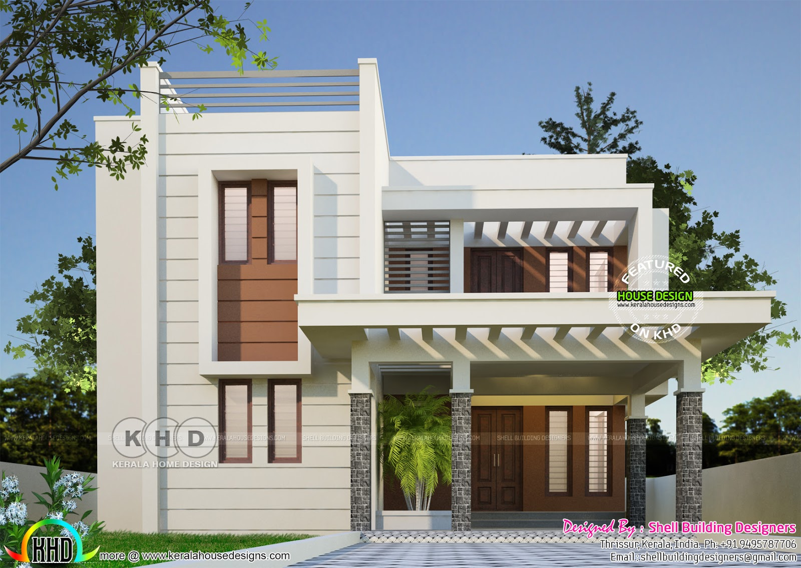 2375 sq ft modern house plan kerala home design and for Home run architecture