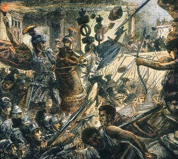 Sulla attacked Rome