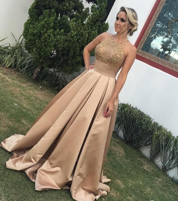 vestido de festa saia ampla