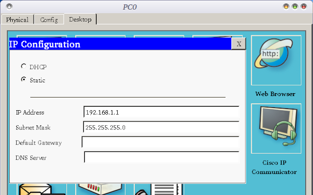 web server cisco packet tracer