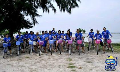 wisata pulau tidung dengan menggunakan sepeda