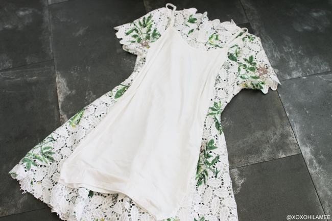 日本人ファッションブロガー,Mizuho K,NEW IN ワイルドフラワー(たんぽぽ) クロシェ編みホワイトワンピース from chicwish