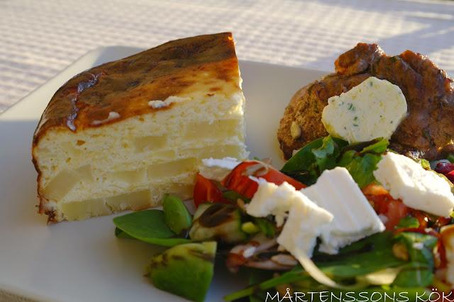 potatistårta med ost och lök