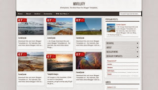 Mxfluity Free Blogger Template