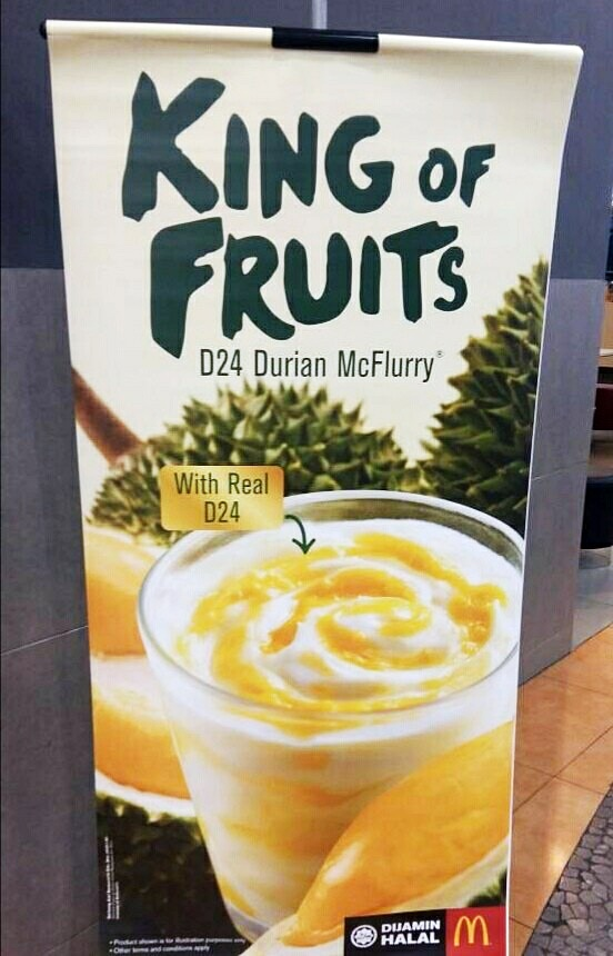 MCDONALD'S D24 DURIAN MCFLURRY