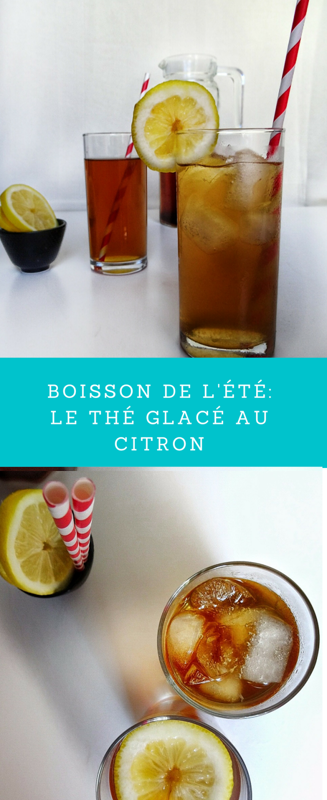 photo de thé glacé au citron