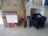 Pompa Air Modifikasi Shimizu  Menggunakan Motor 125 watt