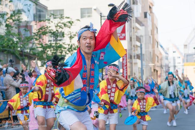 マロニエ祭り、志留波阿連の男踊り その1