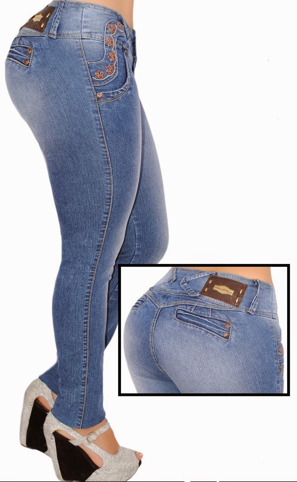 Moda Colombiana PK2: Pantalones Colombianos Levanta Colas