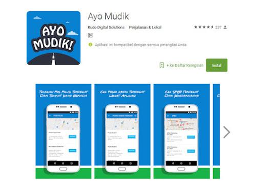 Aplikasi Ayo Mudik di Google Play Store