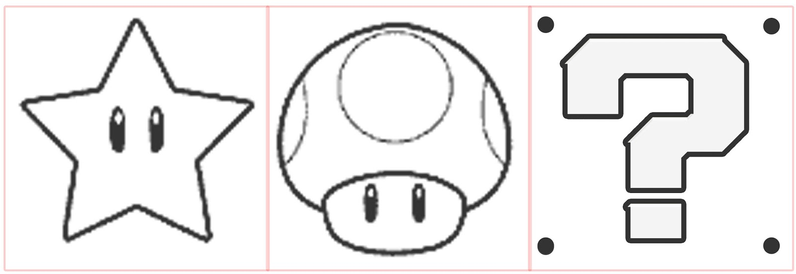 mario question block coloring pages - photo#8