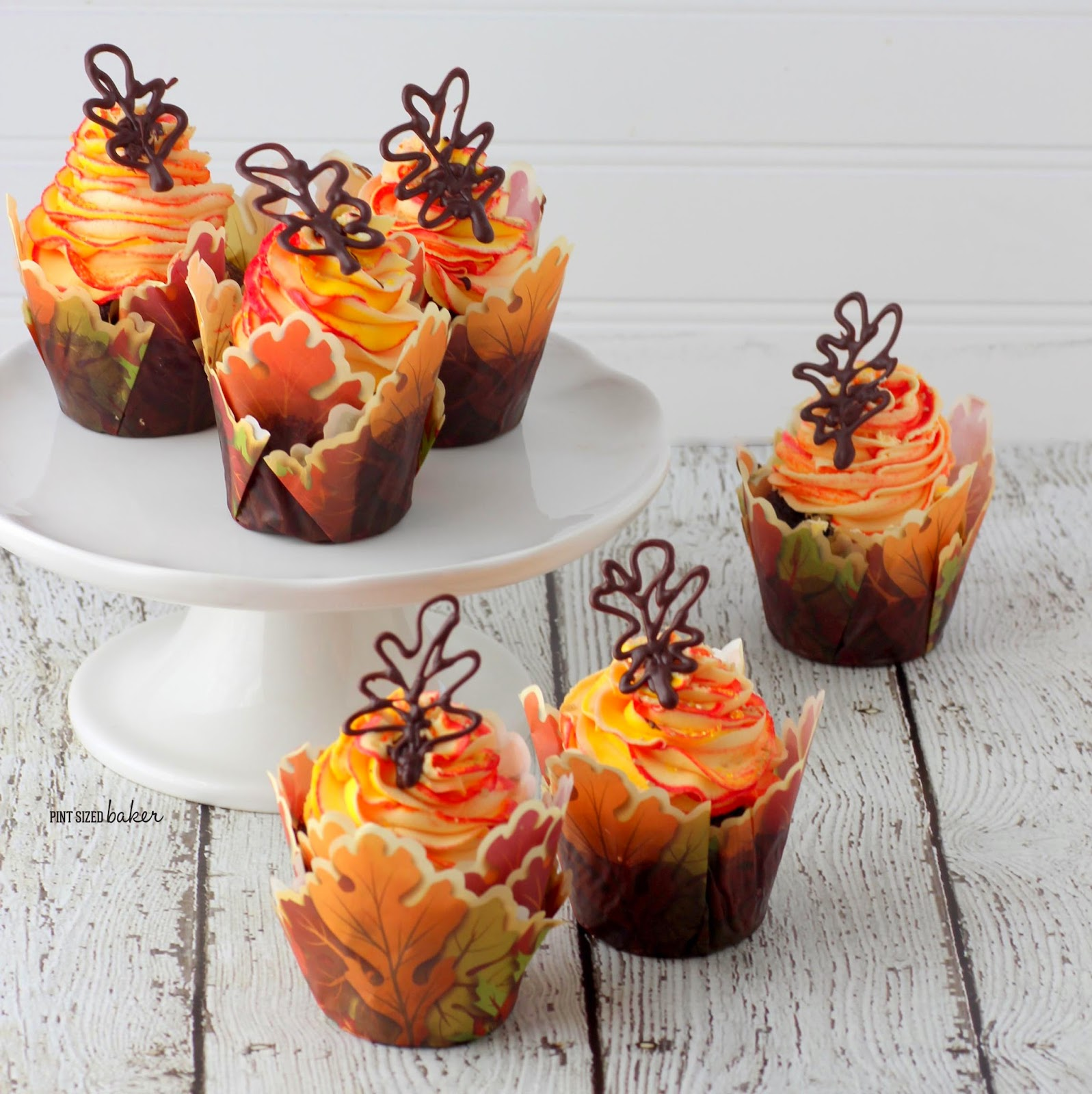 Fall Leaves Cupcakes