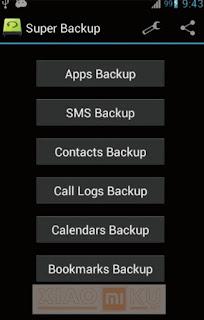 cara backup data xiaomi dengan super backup