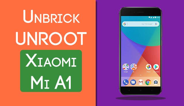 Solved Xiaomi Mi A1 Stuck At Mi Logo Unroot Unbrick Mi A1 Device