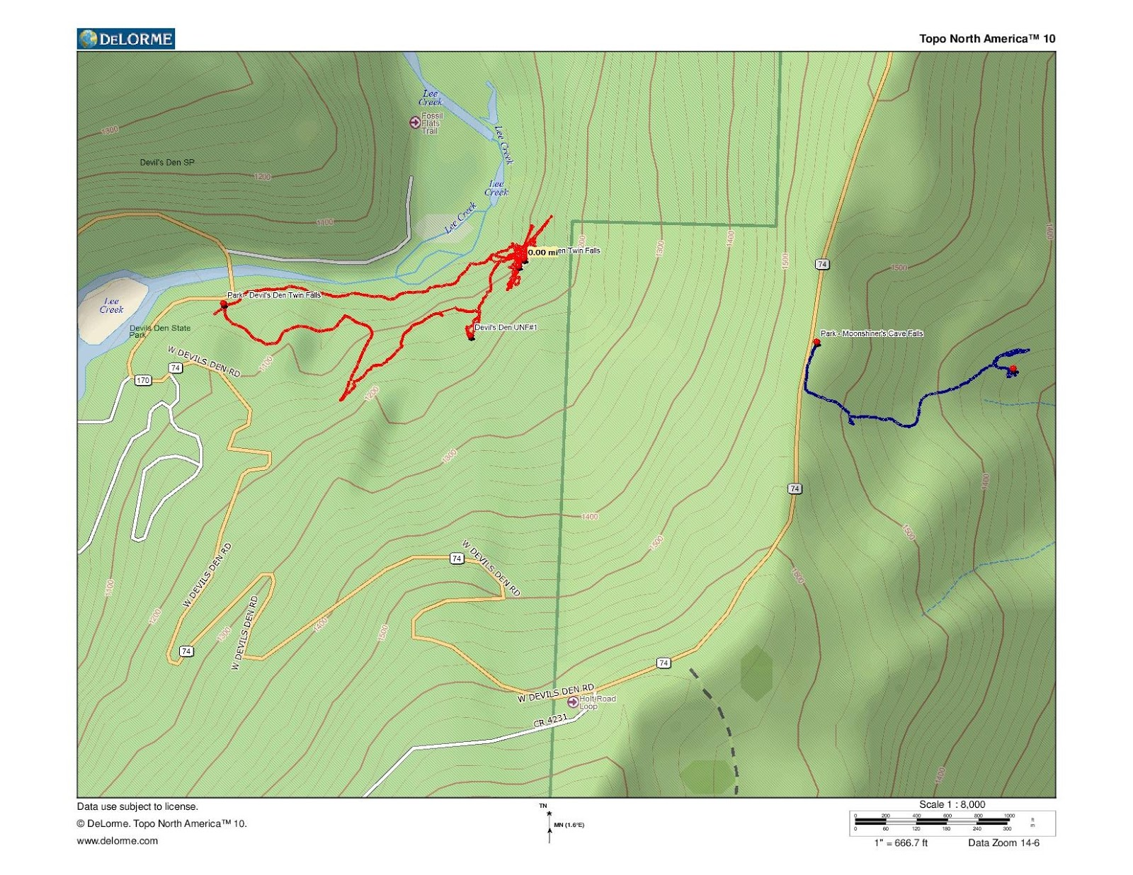 Devils Den Arkansas Map.Rick S Hiking Blog Moonshiner S Cave And Falls Devil S Den State