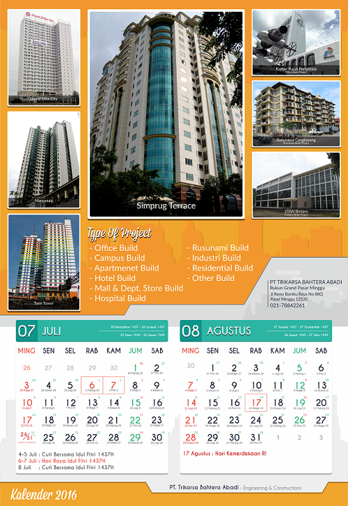 Kalender Perusahaan Fungsional