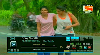 Sony Marathi Temp. FTA (Freetoair) from Measat3 at 91.5°E