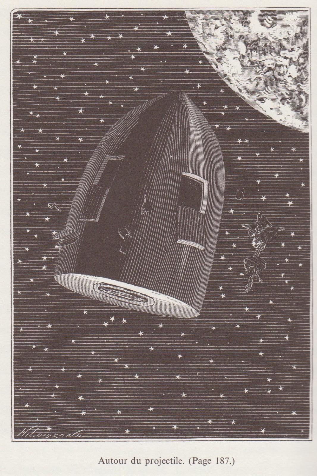 arch osf henri de montaut illustration pour de la terre la lune jules verne. Black Bedroom Furniture Sets. Home Design Ideas
