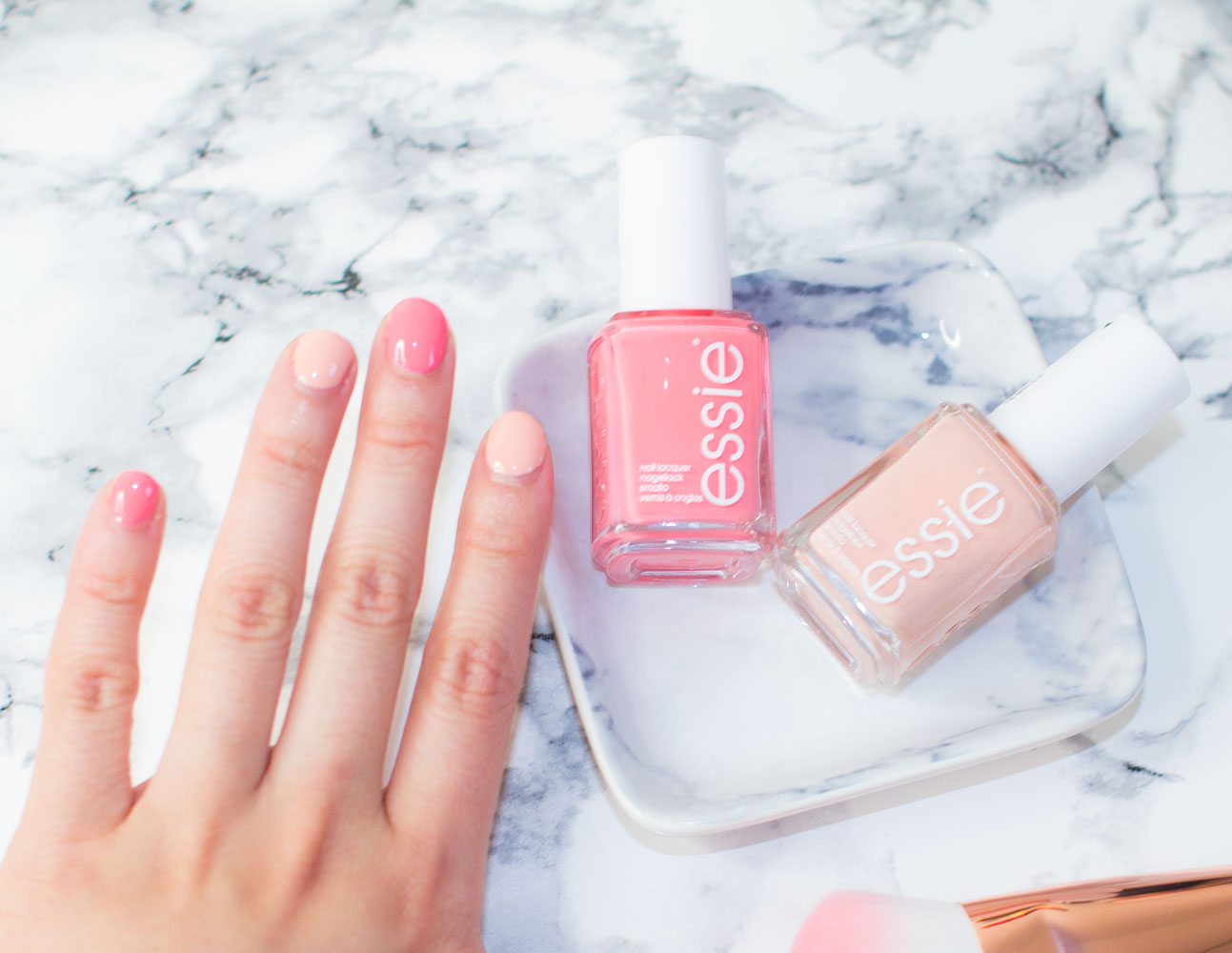 Essie Spring 2016 Nail Polishes - Lounge Lover and High Class Affair Review Swatches