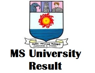 MS University Tamilnadu Results 2017