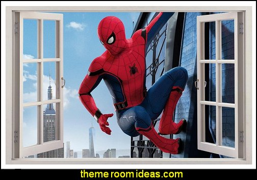 Spider Man Homecoming 3D Window Decal Wall Sticker Home Art Mural Marvel