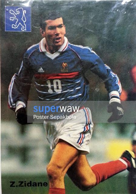 Stiker Zinedine Zidane (Prancis 1998)