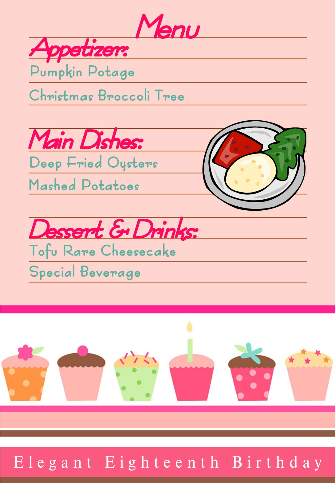 imágenes de what food to serve at an 18th birthday party