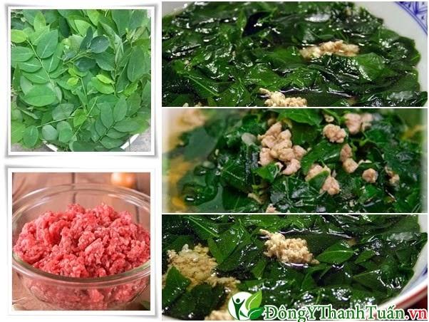 Món ăn mát gan - Canh rau ngót thịt nạc