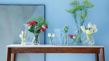 Jarrones de vidrio y cristal para arreglos florales