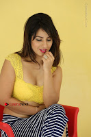 Cute Telugu Actress Shunaya Solanki High Definition Spicy Pos in Yellow Top and Skirt  0454.JPG