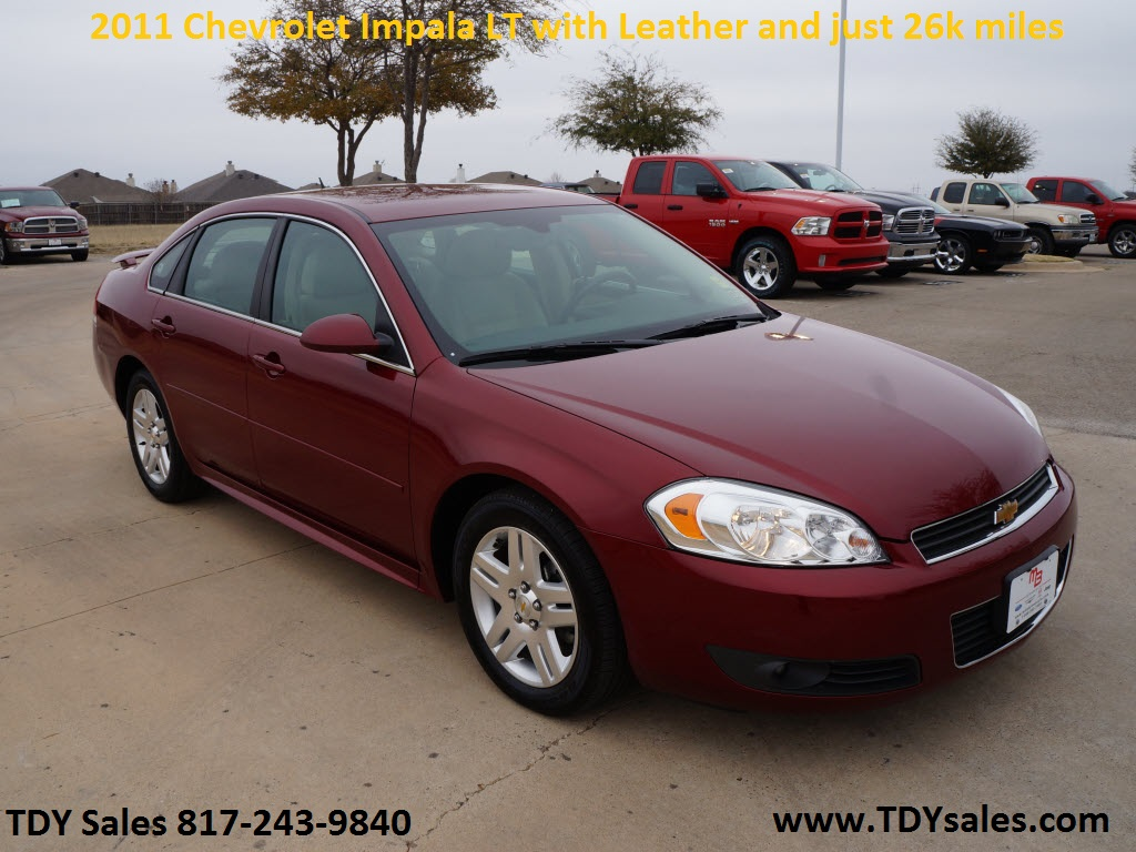 Jeep Dealership Dfw >> For sale $13,998 - 2011 Chevrolet Impala LT with leather and just 26k miles - TDY Sales 817-243 ...