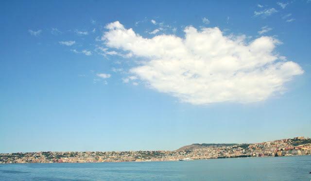 mare, acqua, terra, cielo, nuvole
