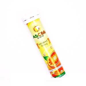 ASCEE Vitamin C 500mg 15เม็ด บรรจุ 10 หลอด