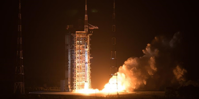 Long March 4C lifts off with Gaofen 5 on May 8, 2018. Photo Credit: Xinhua