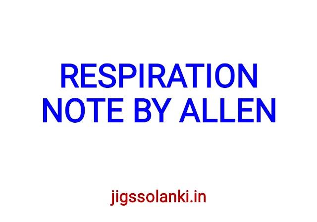 RESPIRATION NOTE BY ALLEN INSTITUTE