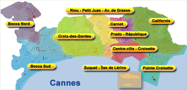Mapa de Cannes