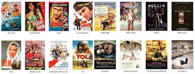Sinema Sadece Sinema Değildir Film Listesi